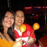 Thai girls love their dough balls