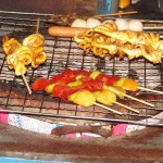 Skewers on the BBQ