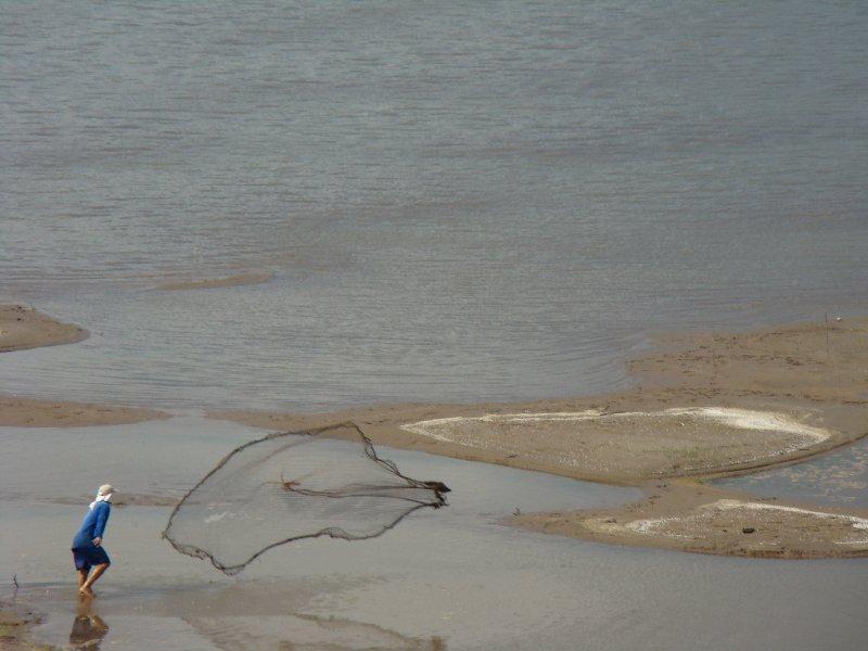 Net fishing the Mekong