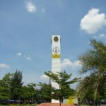 Clock tower at Chatuchak park in Bangkok