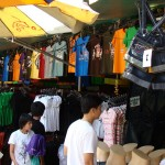 Buying clothes at Bangkok's Chatuchak market