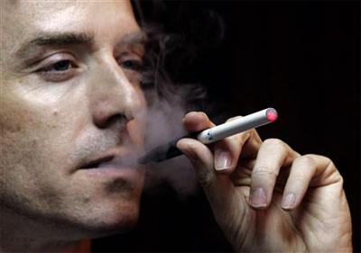 E-cigarette in action