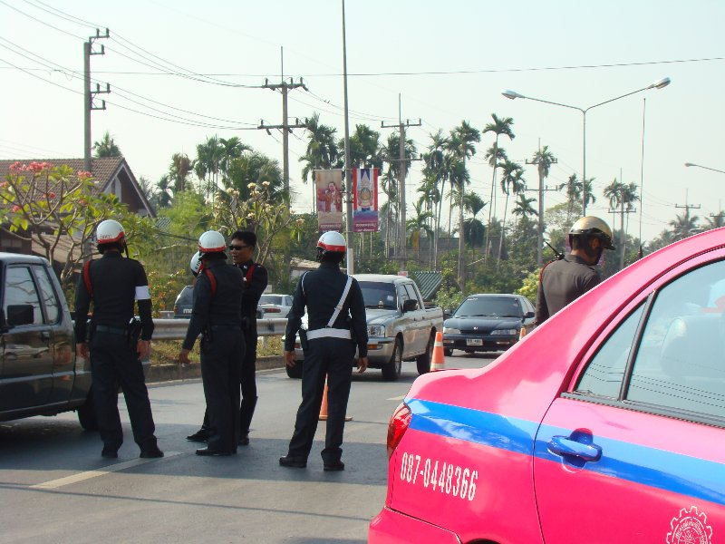 Police checkpoint in Thailand