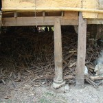 Wood pile under kitchen in Nakhon Phanom