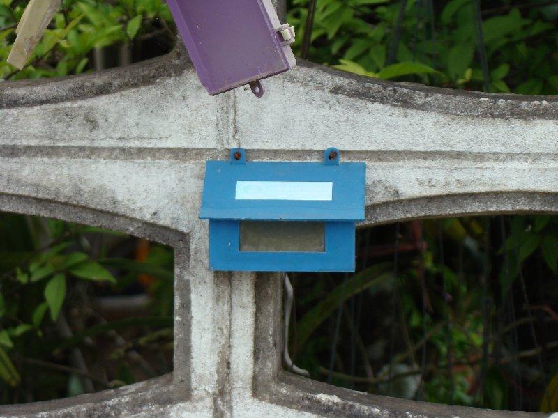 Little blue mail box