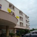 Front of Kieng Piman Hotel in Mukdahan