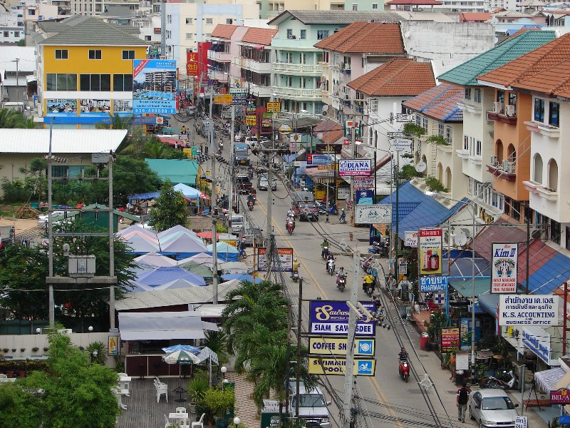 The view down soi Bukow in Pattaya
