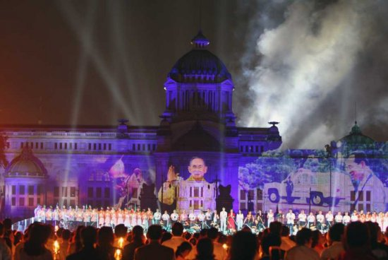 Celebrations for the King of Thailand (1)