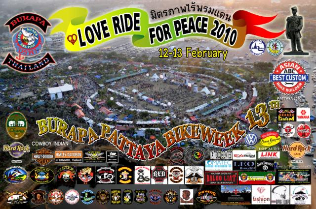 Burapa Pattaya Bike Week 2010 poster